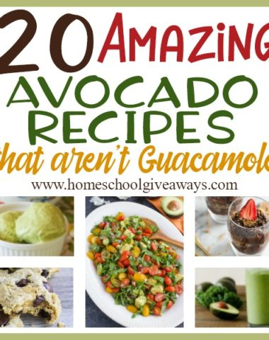Avocados are a great source of healthy fat, if you're watching your figure. However, if you just love avocados, but you're tired of the same 'ole guacamole...give these recipes a try! :: www.homeschoolgiveaways.com