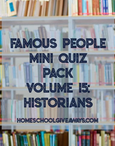 Famous People Mini Quiz Pack Volume 15 - Historians