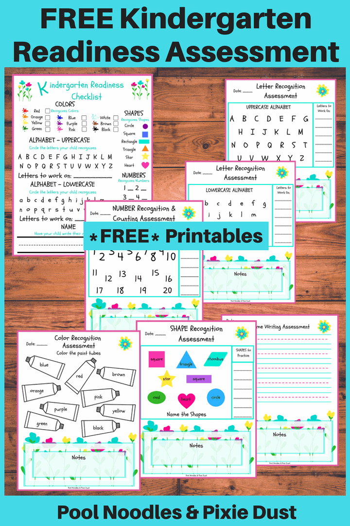 It is a photo of Soft Kindergarten Readiness Test Free Printable
