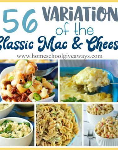 Do your kids love Macaroni and Cheese? Are you tired of the same old recipe? Check out these delicious and unique variations on the classic dish. :: www.homeschoolgiveaways.com