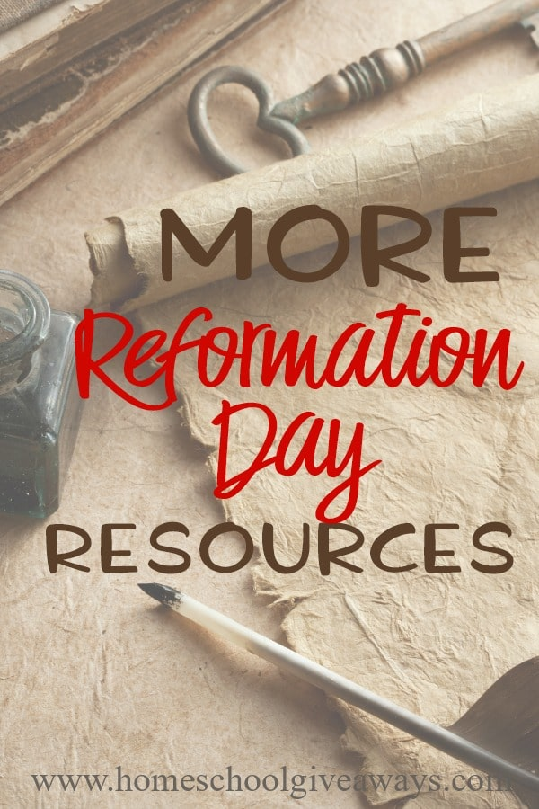 Reformation Day is a great time to study church history, specifically when Martin Luther nailed his 95 Theses to the door of the church. Learn all about Martin Luther, his 95 Theses and church history through these printables, activities and books. :: www.homeschoolgiveaways.com