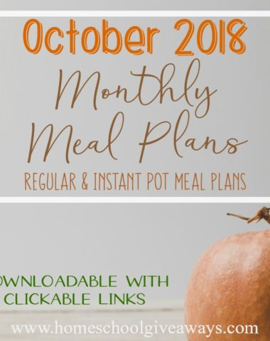 Fall is officially here and we've got your meal planning covered! From slow cooker recipes to fall salads to instant pot meals, you'll find just what you need in these October Meal Plans! #meals #mealplanning #monthlymeals #fallmeals