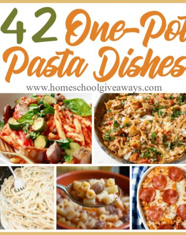 What mom doesn't love a good dinner hack? One-pot dishes are a great way to cook a lot of food quickly and without all the mess. Check out these one-pot pasta dishes that are sure to please the palate. :: www.homeschoolgiveaways.com