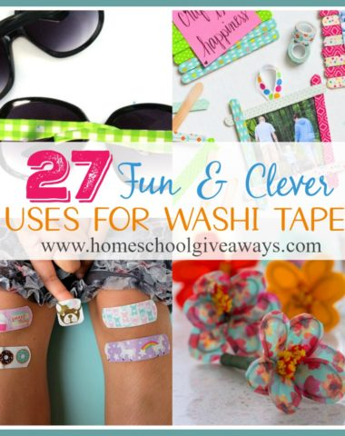 Have you ever used Washi Tape? Until my youngest daughter wanted to create her own cardboard doll house, we had never tried it. But now we're hooked! Check out these other clever and fun uses for it! :: www.homeschoolgiveaways.com