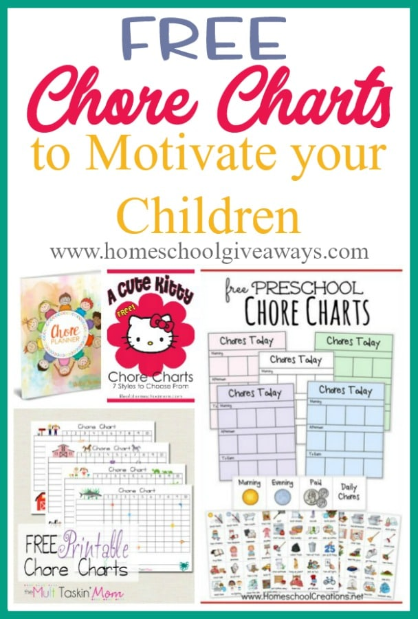 sample chore charts to motivate your children