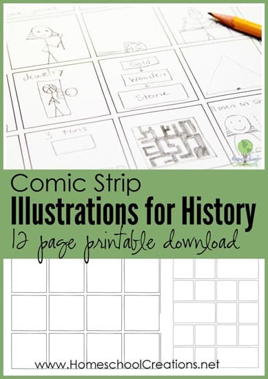comic-strip-illustrations-for-history-12-page-printable-download-Homeschool-Creations