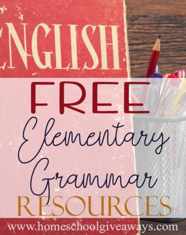 Teaching Grammar during the elementary years doesn't have to be expensive. There are plenty of great options out there that are absolutely FREE! Check out these resources - from printables to songs to games and more! #grammar #elementary #homeschooling #homeschoolers