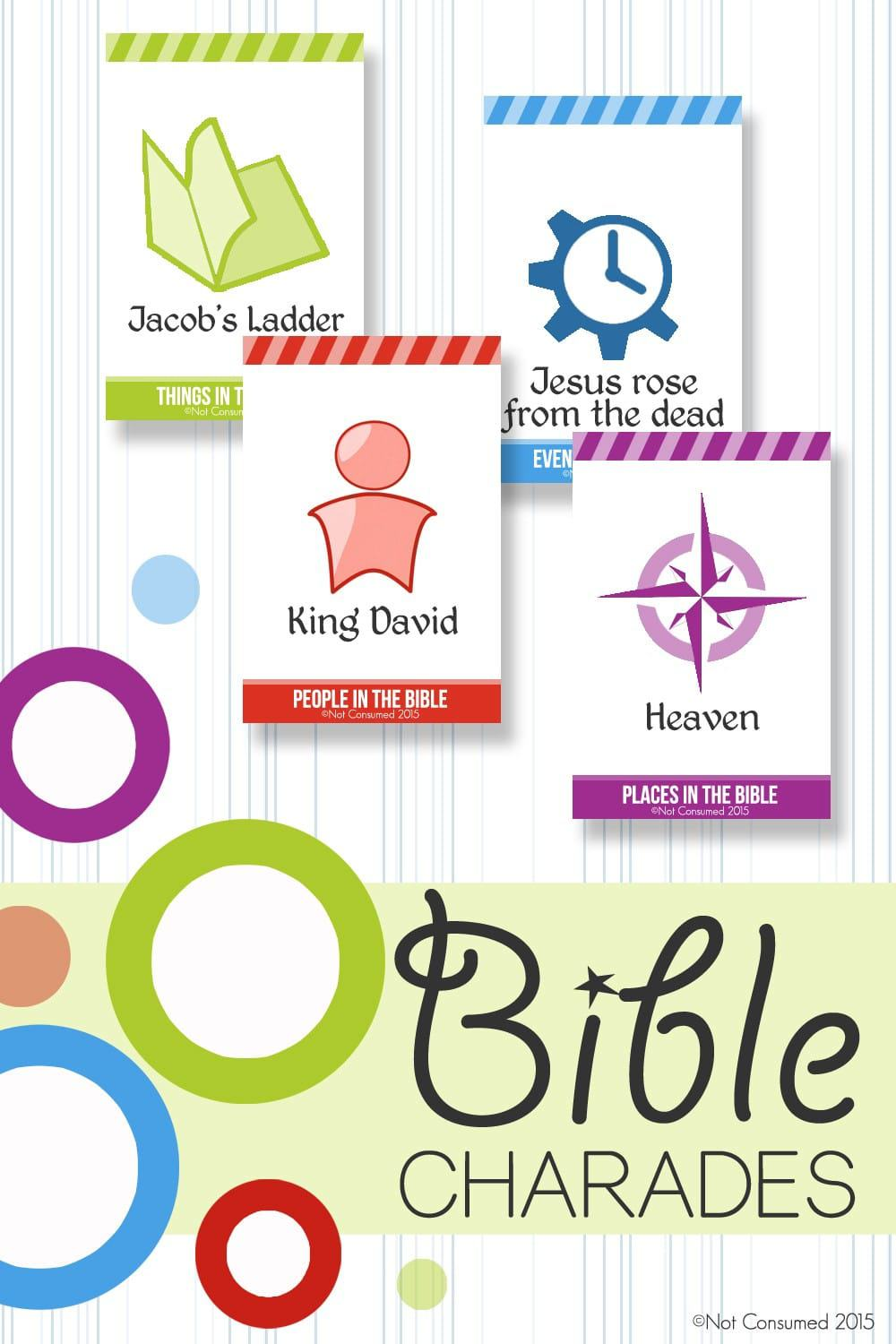 Free Bible Charade Game Printables Homeschool Giveaways