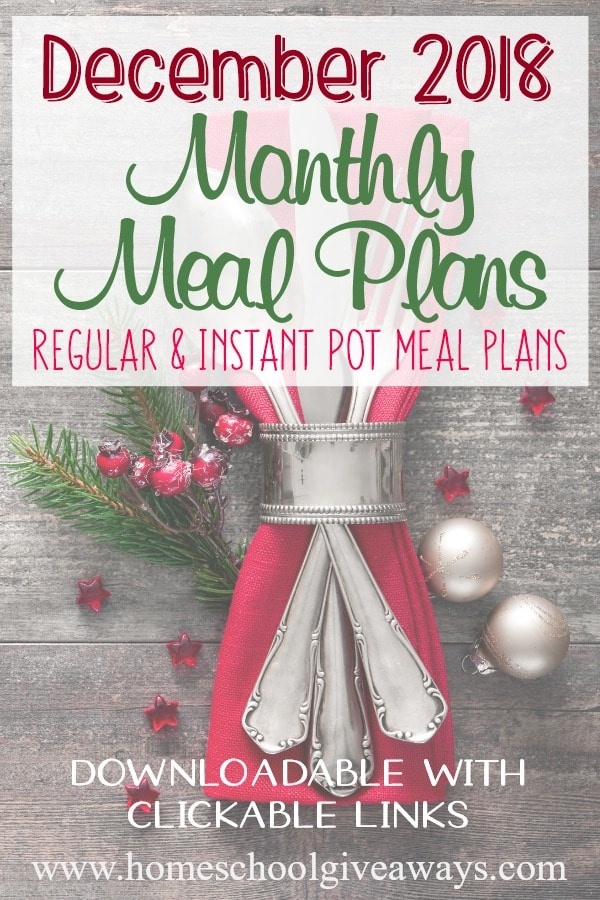 With the craziness of the Christmas holiday season quickly approaching, meal plans can be a life saver for moms! This month you can download two different meal plans that are sure to give your family new and exciting foods to try, as well as celebrate the season. #mealplan #mealplanning #menu #menuplan