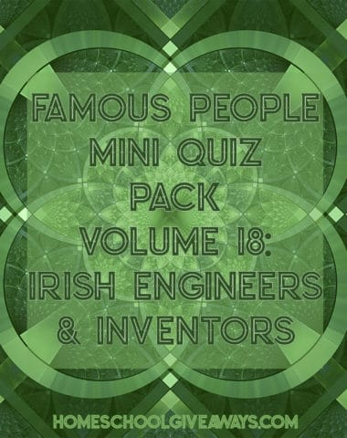 FREE Famous People Mini Quiz Pack Vol. 18 – Irish Engineers and Inventors