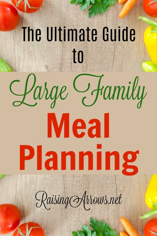 Large-Family-Meal-Planning