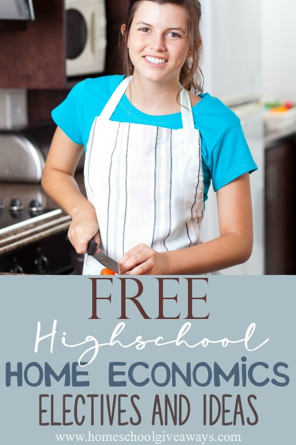 Free High School Home Economics Electives And Ideas Homeschool Giveaways