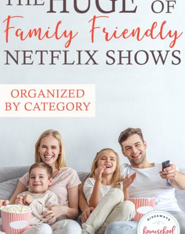 Several years ago we cut the cable cord. Now we only have the movies we own and Netflix. My children love finding new movies and shows to watch. Here are some of our current favorites - listed by category. #movies #family #parents #netflix