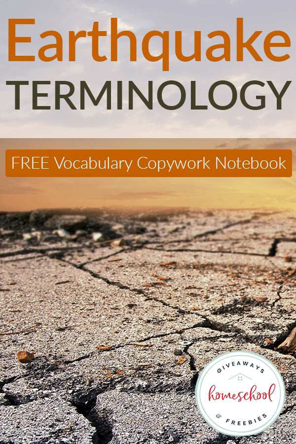 FREE Earthquake Terminology Copywork Notebook