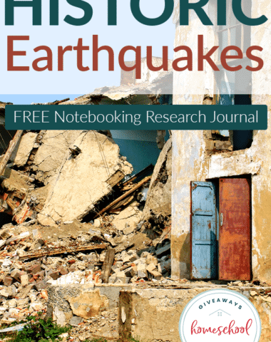 FREE Historic Earthquakes Notebooking Research Journal