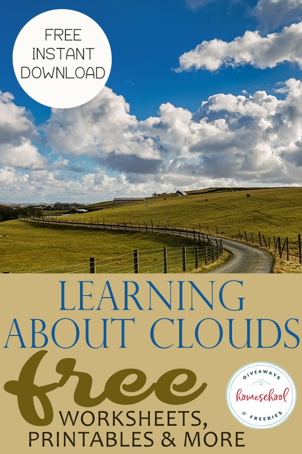 If you are learning about clouds in your science you are going to love all of these FREE Worksheets, Printables and an Instant download! #clouds #science #freescience