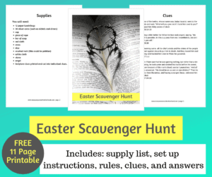 Celebrate the true meaning of Easter with this scavenger hunt. #Easter