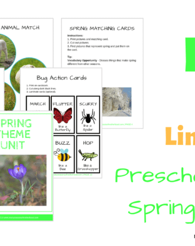 This Spring Theme Preschool Unit is full of activities that will help you welcome spring in with your preschooler. Hurry over and download yours today, because it's only FREE for a LIMITED TIME!
