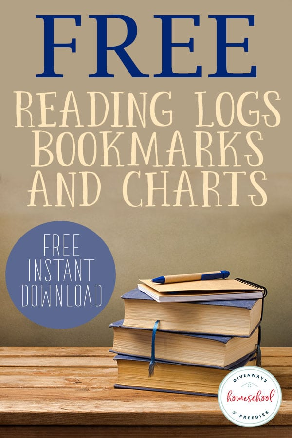 FREE Reading Logs, Bookmarks and Charts PLUS FREE Instant Download #readingresources #readingfreebies