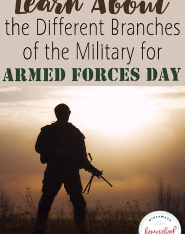 Armed Forces Day is the third Saturday in May and the perfect time to learn about the different branches of the military. Their primary function, mission, rankings and they work together would be a great unit study. #armedforcesday #homeschoolers #homeschooling #hsgiveaways