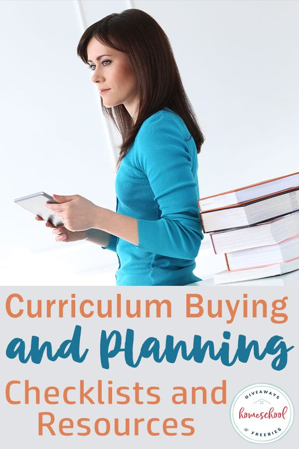 Curriculum Buying and Planning Checklists to help you plan out your new homeschool year #curriculumshopping #curriculumplanning #homeschoolchecklists
