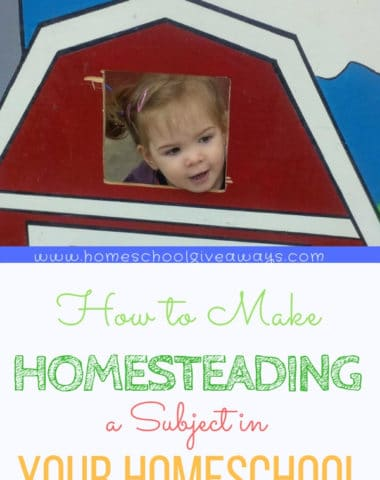 Learn how to make homesteading a subject in your homeschool during each season. #homesteading #homeschooling