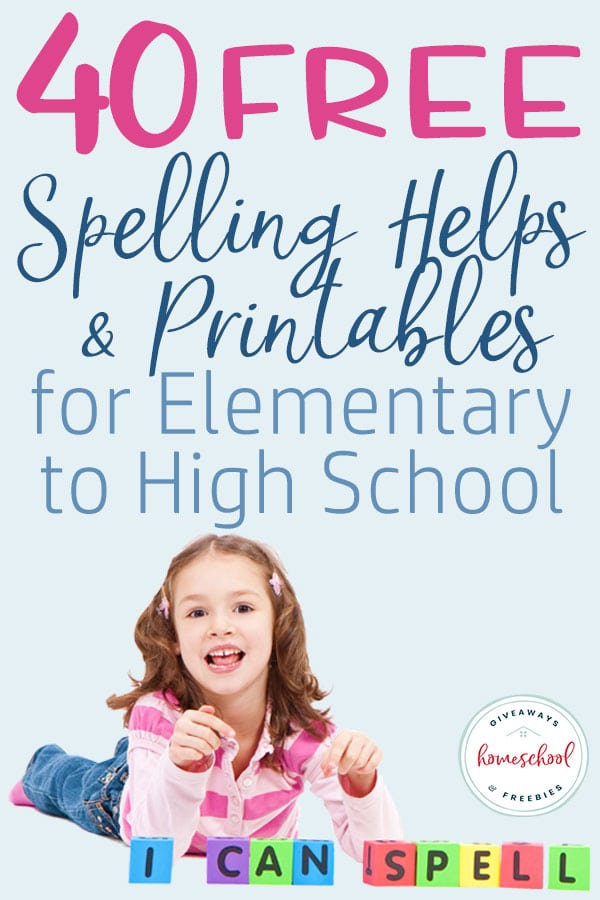 Combining their spelling practice with some fun learning can be a great way to help them improve their spelling skills. We have gathered 40 FREE printables, tips, tricks and activities to help aid you in teaching spelling in your homeschool. #spelling #homeschool #homeschoolers #hsgiveaways