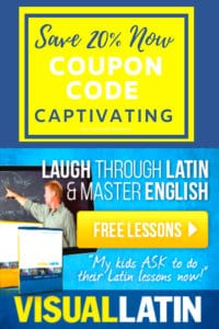 Image of Visual Latin course with coupon code Captivating