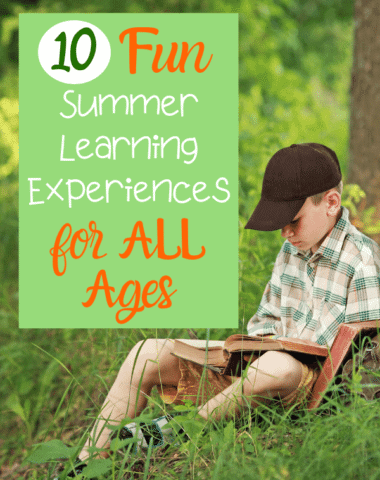 Help your children have fun learning this summer. #homeschool #summerfun #summerbucketlist