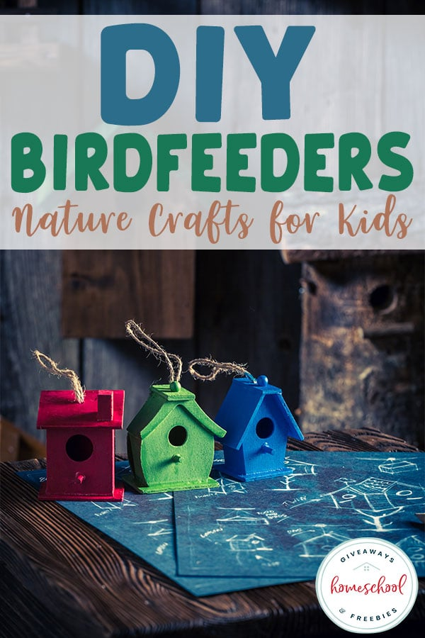 Are you looking for some fun summer crafts for your kids? Try these DIY Birdfeeders the perfect nature crafts for kids. #naturecrafts #DIYbirdfeeders #homeschoolcrafts