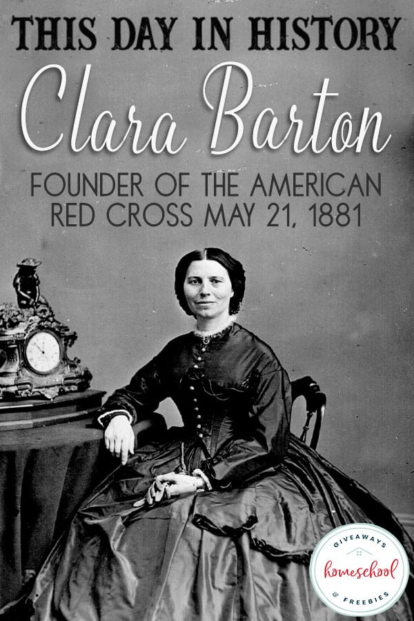 On May 21, 1881 Clara Barton held the first official meeting of the American Red Cross, held in her own apartment. Find out how she became president of the organization and learn more about her life in through this lesson, resources and activities. #hsgiveaways #RedCross #ClaraBarton #history #onthisday