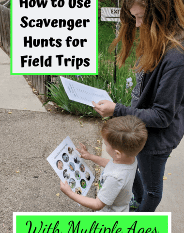 Make your school field trips even more fun with scavenger hunts. #multipleages #homeschool #fieldtripideas
