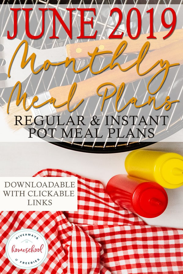 Even if you like lazy summer days, using a meal plan can help you keep your grocery budget in check. Be sure to download one or both of our June meal plans to help you navigate and plan for the entire month. These are downloadable with clickable links to all the delicious recipes perfect for summer meals! #mealplans #mealplanning #summer #hsgiveaways
