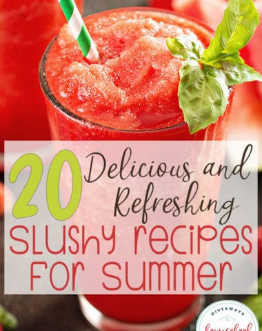 These delicious slushy recipes are perfect for hot summer days and are a way to mix it up and keep you cool! These are so easy-to-make, your kids can help. And they will love them too! #summer #slushy #recipe #hsgiveaways
