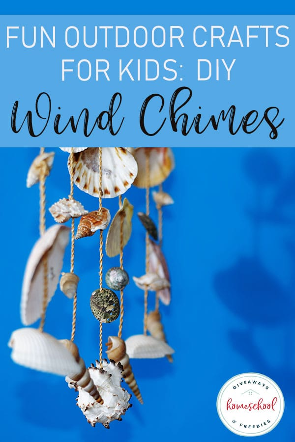 Are you looking for some fun outdoor crafts for the summer? Check out these DIY Wind Chimes. #windchimes #diy #outdoorcrafts