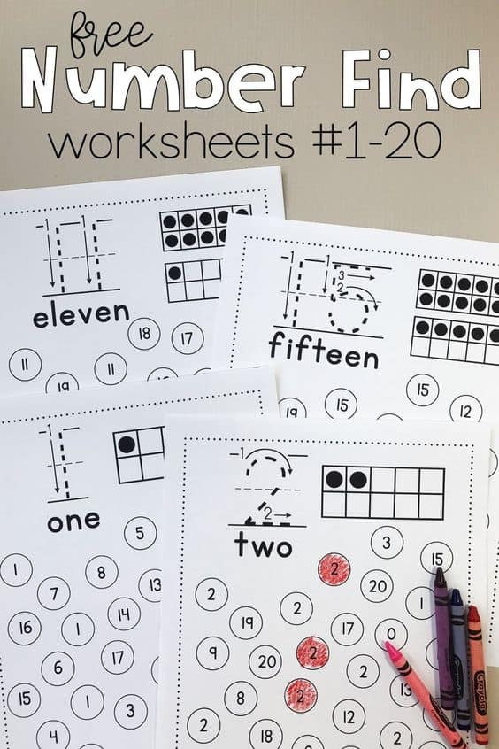 FREE Printable Number Find Worksheets - Homeschool Giveaways