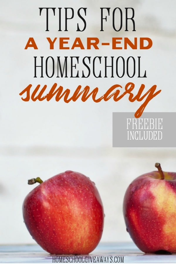 Grab some FREE year-end homeschool summary sheets to help you end your homeschool year.
