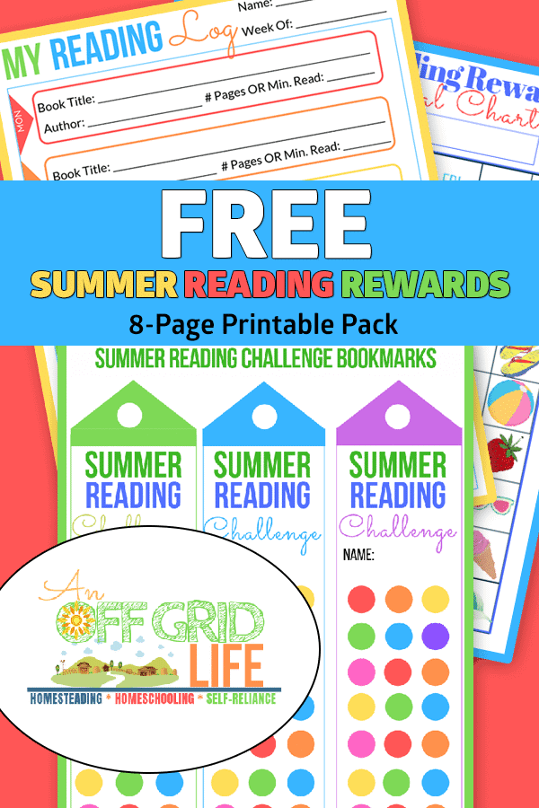 sample pages of FREE Summer Reading Rewards