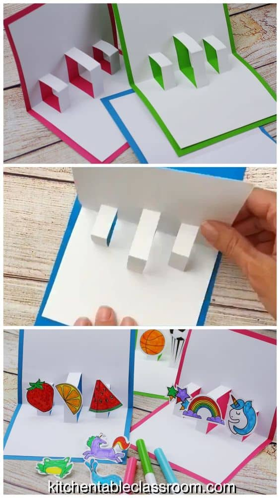free build your own 3d popup card templates  homeschool