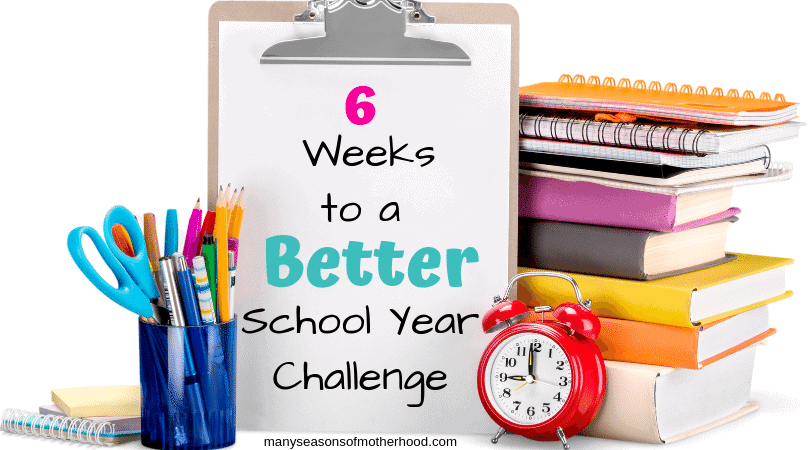 Prepare now to have the best school year yet! 6 Weeks to a Better School Year offers daily challenges for you to complete to help you get organized and ready for the coming school year. #homeschooling #homeschooltips #organization
