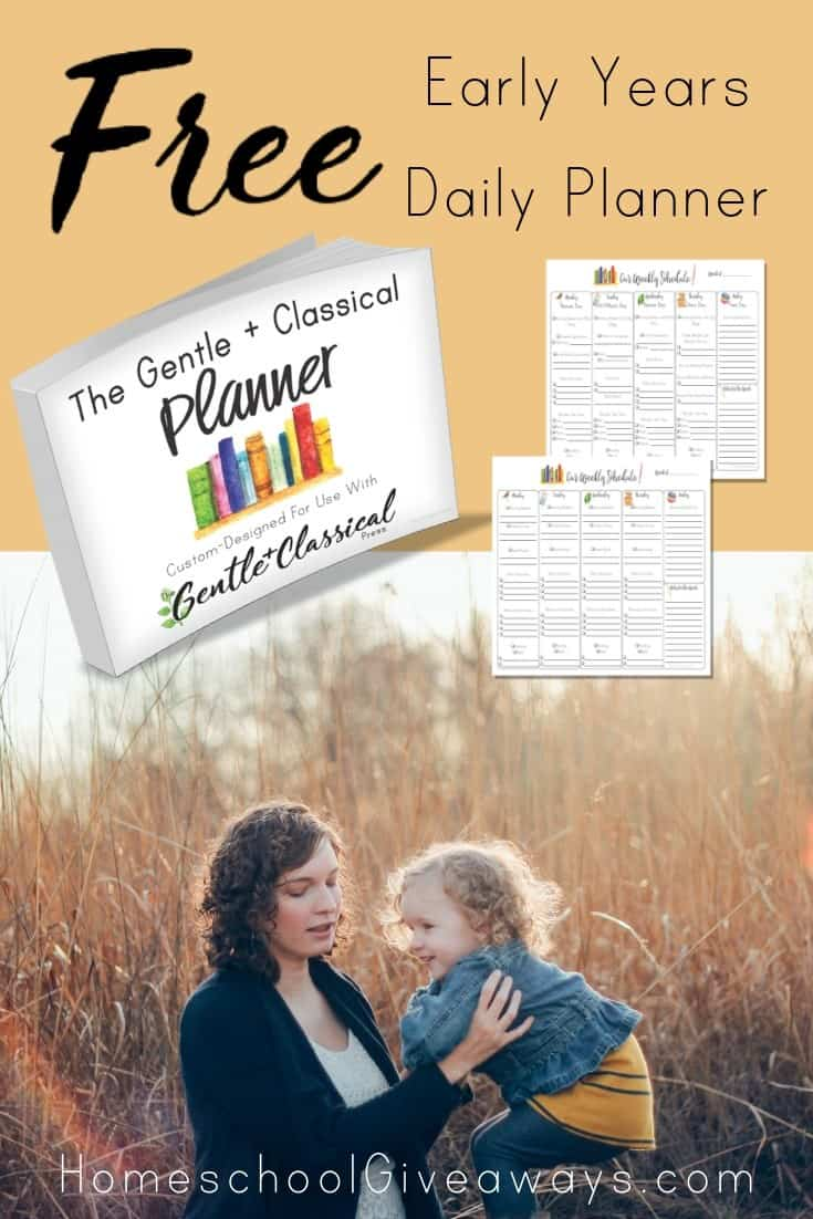 Have you been looking for a FREE, weekly, Charlotte Mason friendly planner for the early years? I have one for you right here!