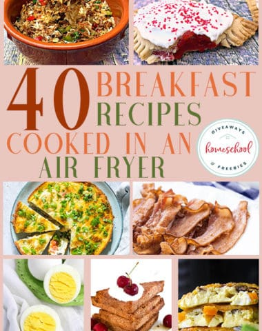 Have you tried the magical kitchen gadget, the air fryer? It is a great way to get a crispy, deep fried taste without all the grease and fat! Check out these delicious breakfast recipes cooked in an air fryer! #airfryer #recipes #breakfast #hsgiveaways
