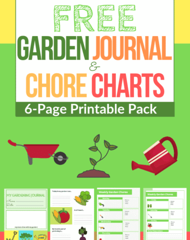 Free Gardening Journal & Chore Charts - 6-Page Printable Pack!