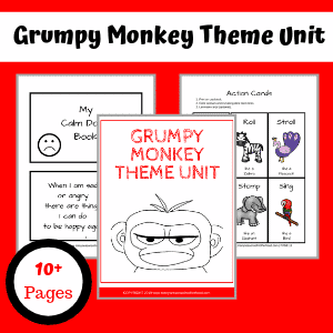 Grumpy Monkey theme unit activities.