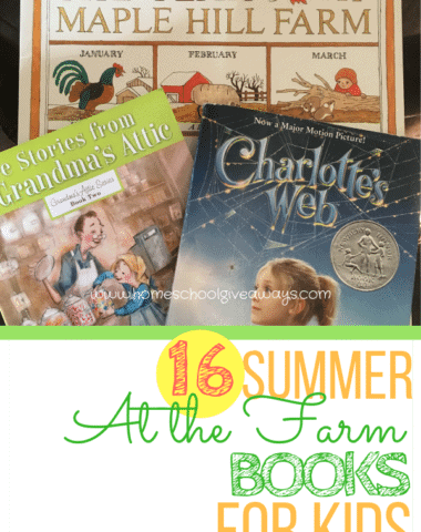 16 Summer Farm Books for kids - including picture books and chapter books too. #farmbooksforkids #summerreading