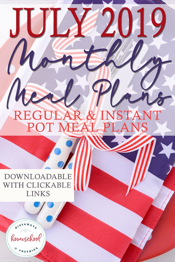 Summer meals don't have to be stressful. Using a meal plan can help you enjoy the longer days without all the stress of planning a meal every day! We have two different July meal plans to choose from - 30 Days of Instant Pot meals or a regular meal plan with Slow Cooker recipes sprinkled in. Take your pick or choose both! #recipes #mealplans #menuplans #hsgiveaways