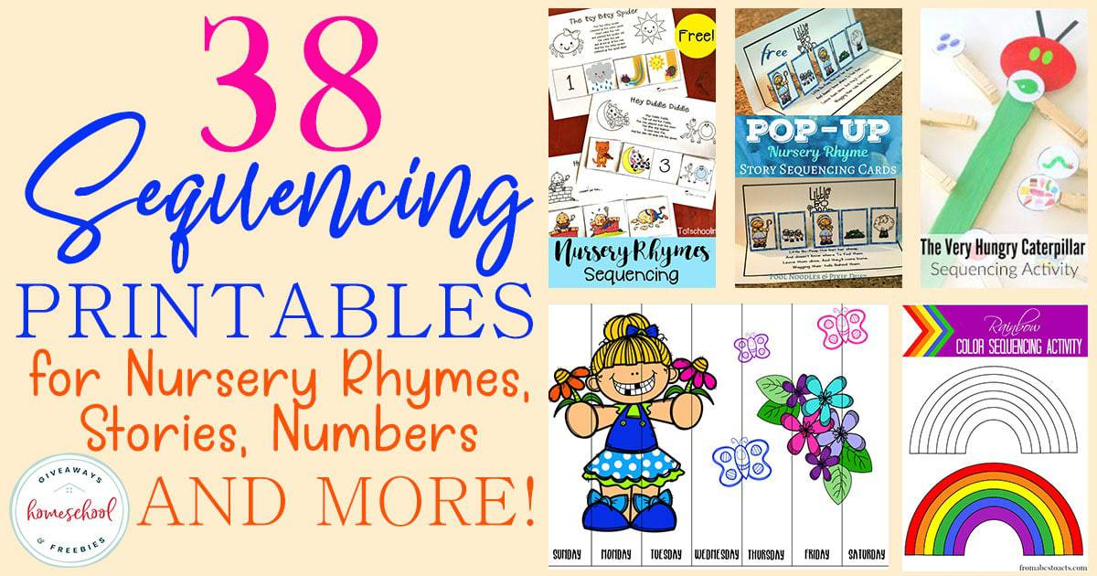 Do your kids know what sequencing is? How are they at putting events from a story in order? These FREE printables are a fun way for them to practice and master sequencing. #sequencing #sequence #hsgiveaways