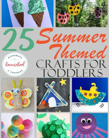 Whether you're trying to keep your little ones occupied, out of your hair or just offer some fun activities, these summer themed crafts are perfect for your toddlers. With a few simple supplies, you'll have everything they need to create a masterpiece. #summer #crafts #artsandcrafts #toddlers #preschool #hsgiveaways