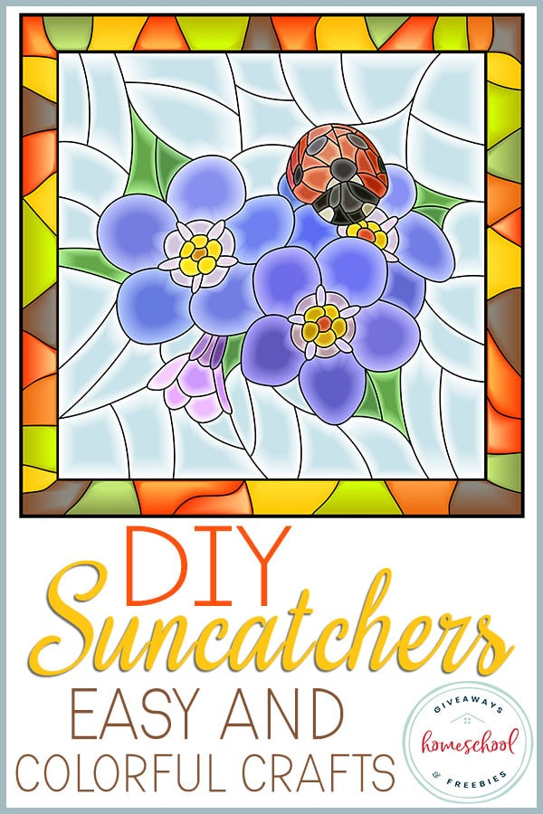 If you are looking for some crafts to do with your family this summer you will love these DIY Suncatcher easy and colorful crafts for your kids.#summercrafts #diy #suncatchers