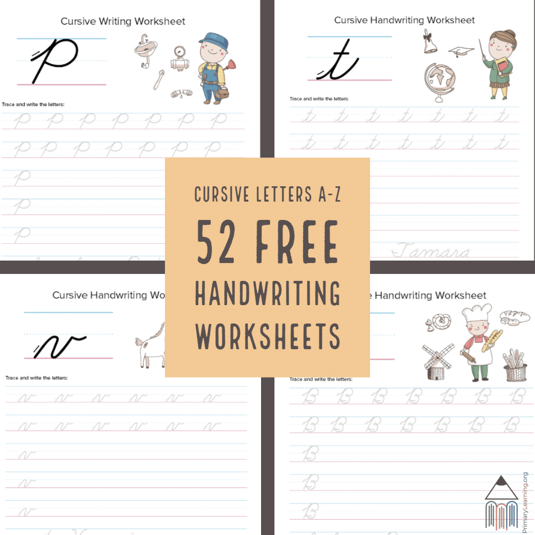 - 52 FREE Cursive Handwriting Worksheets - Homeschool Giveaways